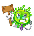 judge virus cells bacteria microbe isolated mascot vector image vector image