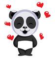 little panda bear in love on white background vector image
