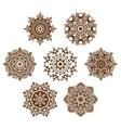 Mandala ornament set vector image vector image