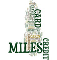 miles credit card miles make you smile text vector image vector image
