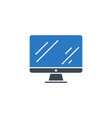 monitor related glyph icon vector image vector image