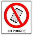 No cell phone sign Mobile phone ringer volume vector image