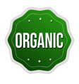 organic label or sticker vector image