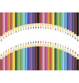 Pencils blank frame vector image vector image