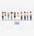 people of different ethnic groups with social vector image vector image