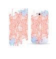 Phone case design Flower abstract mandala pattern vector image