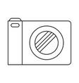 photo camera icon in monochrome silhouette vector image vector image