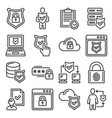 privacy policy icons set on white background vector image