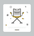producer chair icon on white vector image vector image