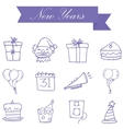 Purple icon new years collection stock vector image vector image