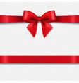 red bow isolated transparent background vector image