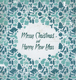 Retro christmas card with seasonal pattern vector image vector image