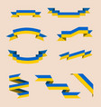 ribbons or banners in colors ukrainian flag vector image