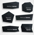 set abstract black banners modern style design vector image