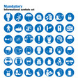 set of safety and health protection signs vector image vector image