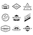 set vintage badge logo vector image