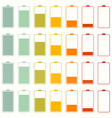 Simple Battery Life Icon Set Set Isolated on White vector image vector image