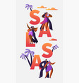 slasa festival character dance typography banner vector image vector image