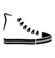 sneaker canvas shoe black icon vector image vector image
