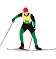 snow skiing vector image