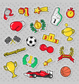 sports winner badges patches and stickers vector image vector image