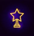 star award neon sign vector image vector image