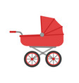 stroller isolated flat style design vector image vector image