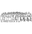 students or people standing together vector image vector image