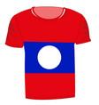 t-shirt flag laos vector image vector image