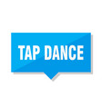 tap dance price tag vector image vector image