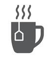 tea cup glyph icon drink and beverage vector image vector image