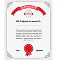 Template diploma certificate currency vector image
