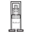 temple of edfu plan ancient egyptian temple vector image vector image