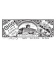 the state banner of ohio the buckeye state vintage vector image vector image