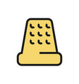thimble for hand sewing icon on white background vector image vector image