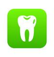 tooth icon digital green vector image vector image