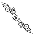 tribal flower stars tattoo style vector image vector image