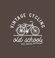 vintage cycling logo design inspiration vector image vector image