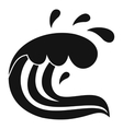 Water wave splash icon simple style vector image vector image