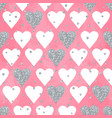 wedding aquarelle pink seamless pattern with vector image
