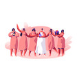 wedding celebration bridesmaid and fiancee vector image vector image