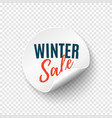 winter sale round banner price tag template vector image vector image