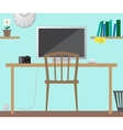 Workplace concept Flat design vector image