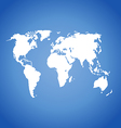 World map isolated on blue vector image vector image