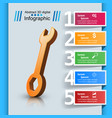 wrench template bussines infographic vector image vector image