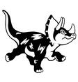 cartoon triceratops black white vector image