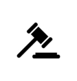 Court Icon Flat vector image