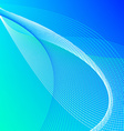 Abstract background with blue and green lines vector image