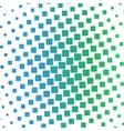 Color squares halftone gradient pattern vector image