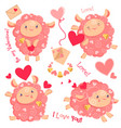 valentine day clipart set of vector image